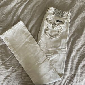 White Miss Me Bootcut Jeans